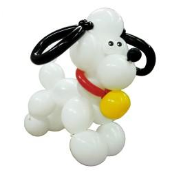 Белый щенок из шаров