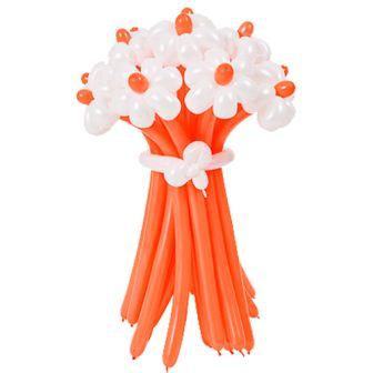Бело-оранжевые ромашки