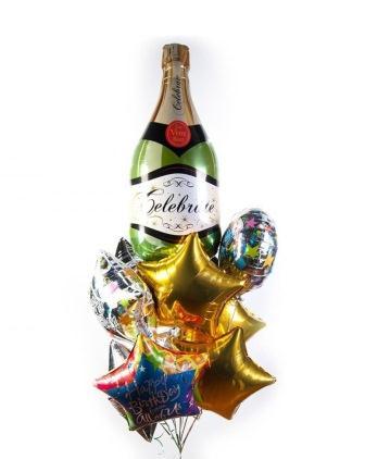 наклейки новогоднее шампанское