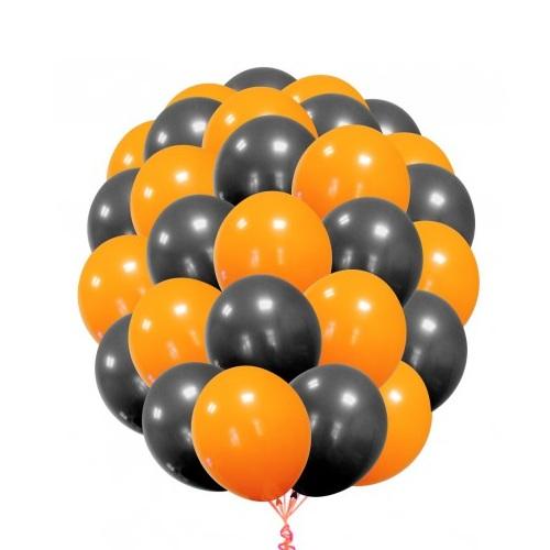 Оранжево-черные шарики