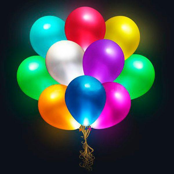 Светящиеся шары разных цветов