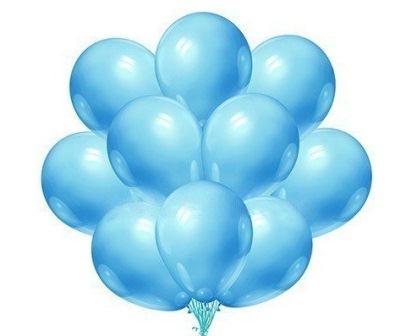Нежно-голубые шарики